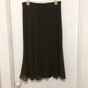 Dresses & Skirts - Made in Italy womans XL olive green pull up skirt